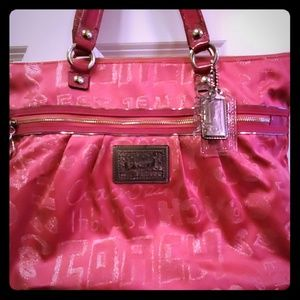 Hot Pink Coach Shoulder Bag